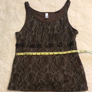 Women's Merona size M lace y lined tank top
